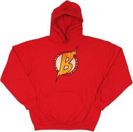 Big Bang Theory Bolted B Red Hoodie