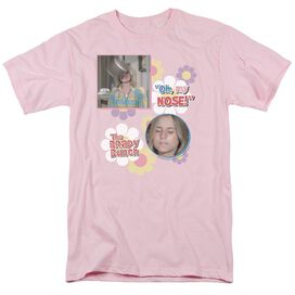 Brady Bunch Oh, My Nose! Short Sleeve Adult Pink T-Shirt
