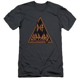 Def Leppard Distressed Logo Short Sleeve Adult T-Shirt
