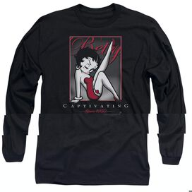 BETTY BOOP CAPTIVATING - L/S ADULT 18/1 - BLACK T-Shirt