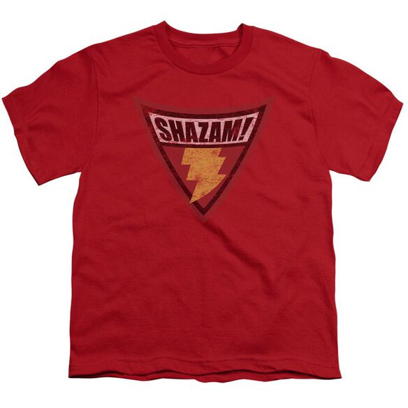 Batman Bb Shazam Shield Short Sleeve Youth T-Shirt