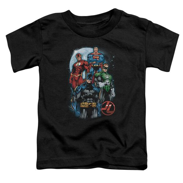 Jla The Four Short Sleeve Toddler Tee Black Lg T-Shirt