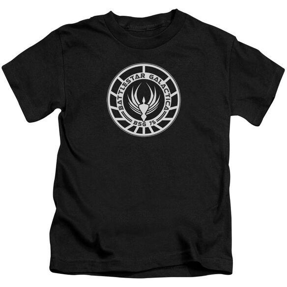 Bsg Galactica Badge Short Sleeve Juvenile Black T-Shirt