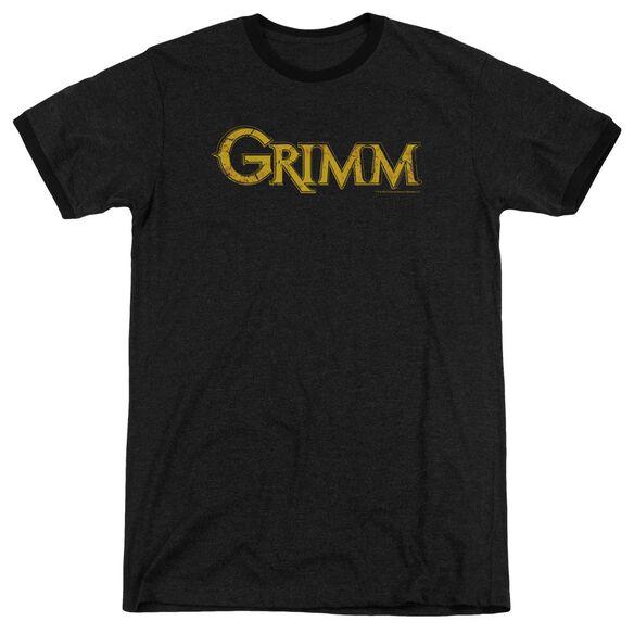 Grimm Gold Logo Adult Heather Ringer