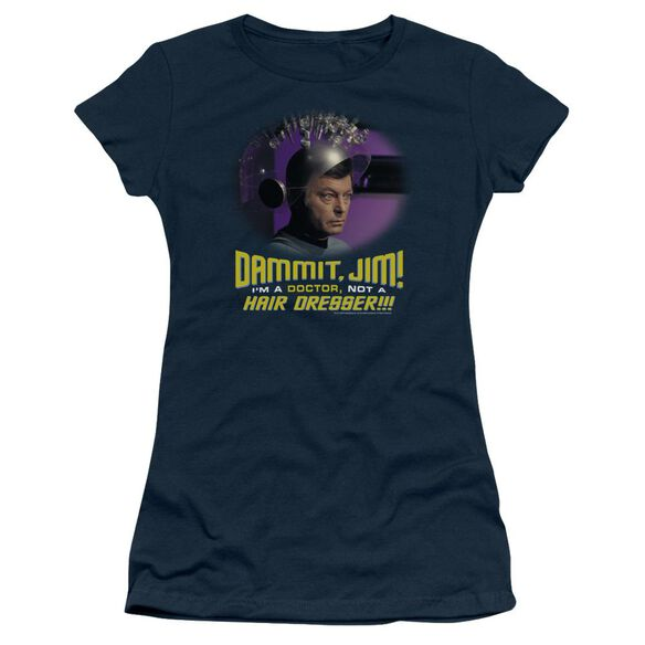 Star Trek Not A Hair Dresser Short Sleeve Junior Sheer T-Shirt
