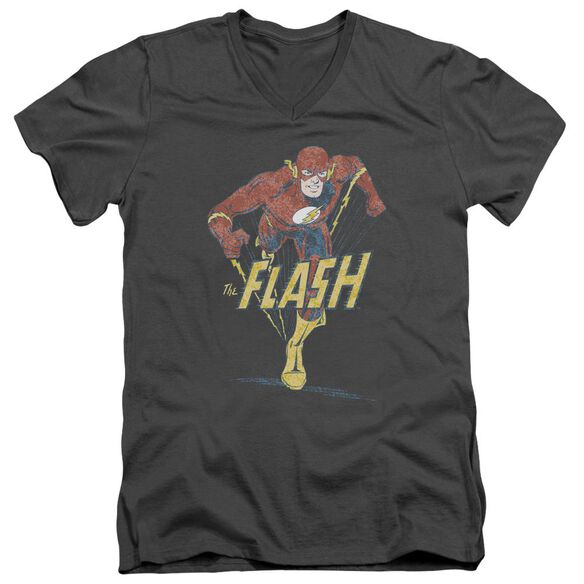 Dco Desaturated Flash Short Sleeve Adult V Neck T-Shirt