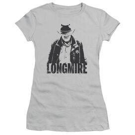 Longmire One Color Short Sleeve Junior Sheer T-Shirt