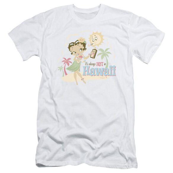 Betty Boop Hot In Hawaii Short Sleeve Adult T-Shirt