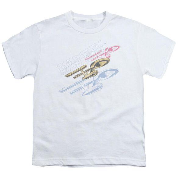 Star Trek Retro Tri Enterprise Short Sleeve Youth T-Shirt