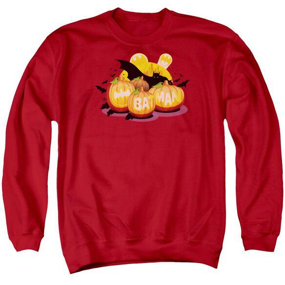 Batman Bat O Lanterns Adult Crewneck Sweatshirt