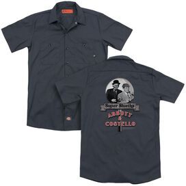 Abbott & Costello Super Sleuths (Back Print) Adult Work Shirt