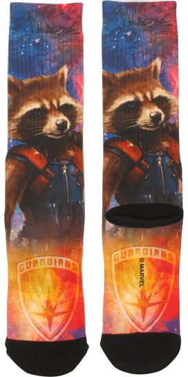 Guardians of the Galaxy Rocket Crew Socks
