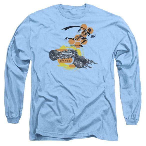 Dark Knight Bat Pod Schematic Long Sleeve Adult Carolina T-Shirt
