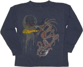 Dragon Flame Long Sleeve Juvenile T-Shirt