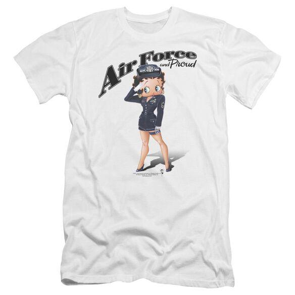 Betty Boop Air Force Boop Premuim Canvas Adult Slim Fit