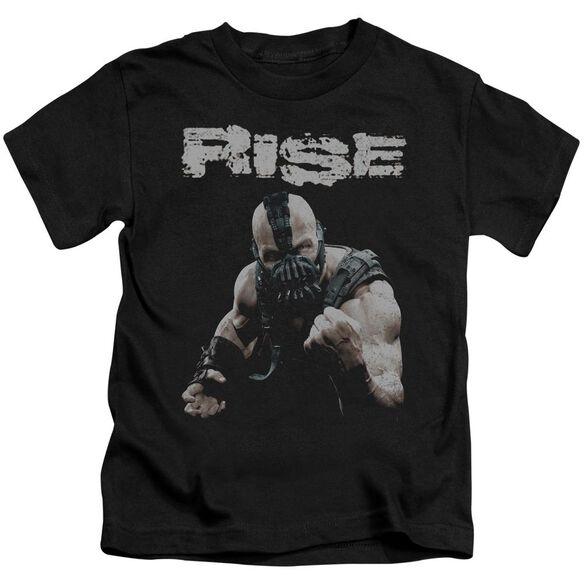 Dark Knight Rises Rise Short Sleeve Juvenile Black T-Shirt