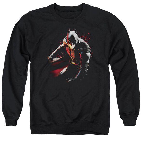 Dark Knight Rises Ready To Punch Adult Crewneck Sweatshirt