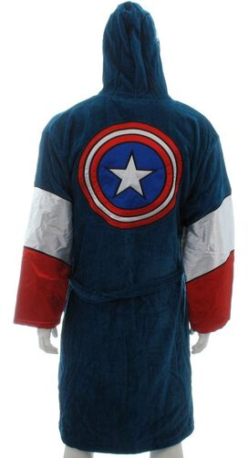 Captain America Hooded Terrycloth Robe