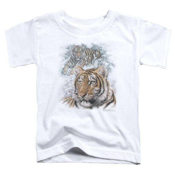Wildlife Tigers Short Sleeve Toddler Tee White T-Shirt