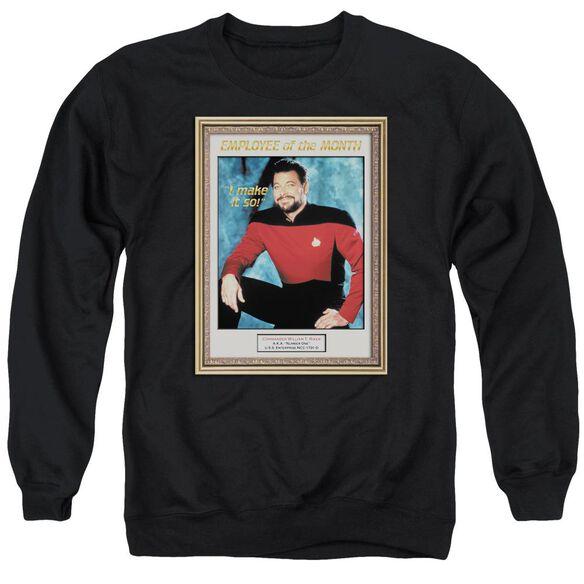 Star Trek Employee Of Month Adult Crewneck Sweatshirt