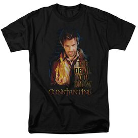 Constantine Devil You Know Short Sleeve Adult Black T-Shirt