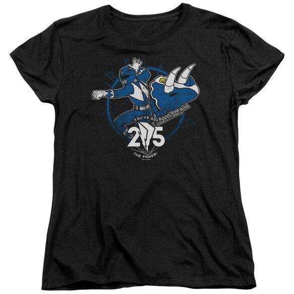Power Rangers Blue 25 Short Sleeve Women's Tee T-Shirt