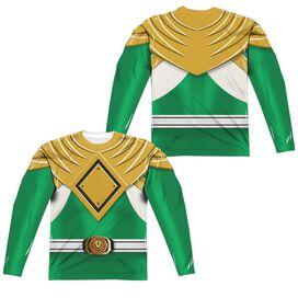 Power Rangers Green Ranger (Front Back Print) Long Sleeve Adult Poly Crew T-Shirt