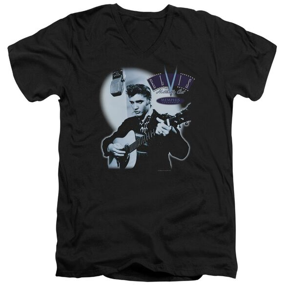 Elvis Hillbilly Cat Short Sleeve Adult V Neck T-Shirt