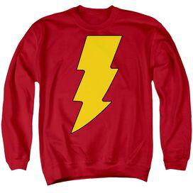 Dc Shazam Logo Adult Crewneck Sweatshirt