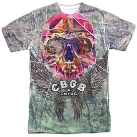 Cbgb Graffiti Skull Short Sleeve Adult Poly Crew T-Shirt
