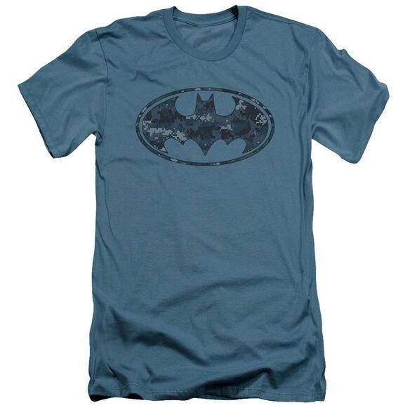 Batman Navy Camo Shield Short Sleeve Adult T-Shirt