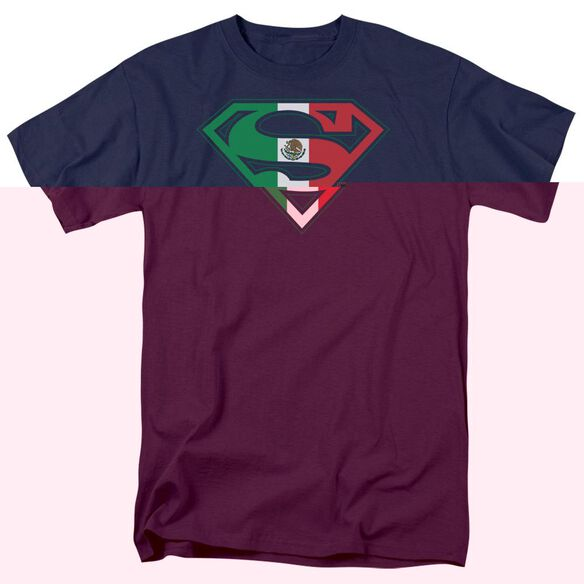 SUPERMAN MEXICAN SHIELD-S/S ADULT 18/1 - NAVY T-Shirt