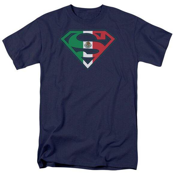 Superman Mexican Shield Short Sleeve Adult T-Shirt