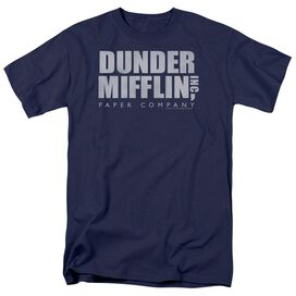 The Office Dunder Mifflin Distressed Short Sleeve Adult T-Shirt