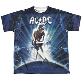 Acdc Lightning Short Sleeve Youth Poly Crew T-Shirt