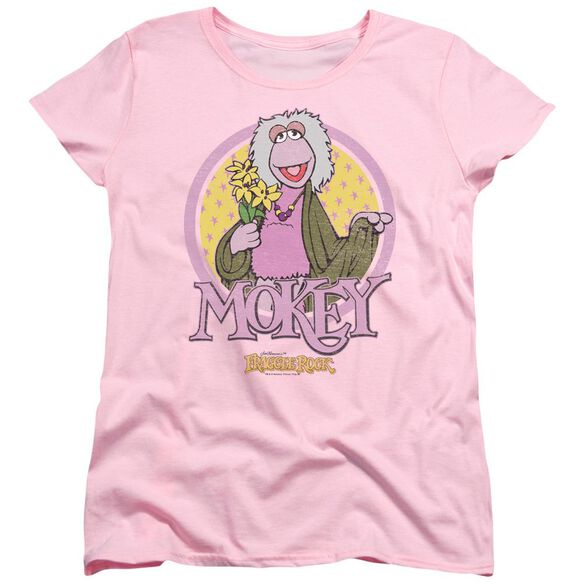 Fraggle Rock Mokey Circle Short Sleeve Womens Tee T-Shirt