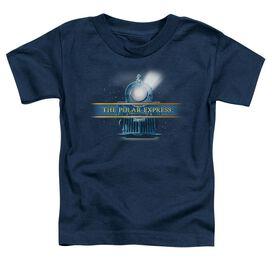 Polar Express Train Logo Short Sleeve Toddler Tee Navy T-Shirt
