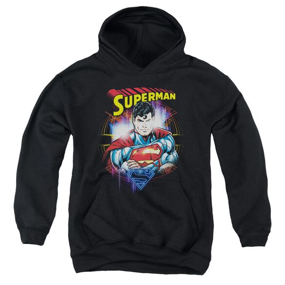 Superman Glam Youth Pull Over Hoodie