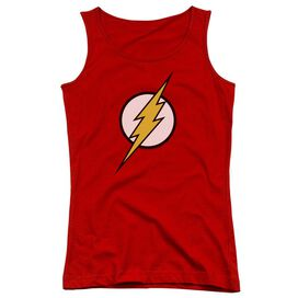 Jla Flash Logo Juniors Tank Top