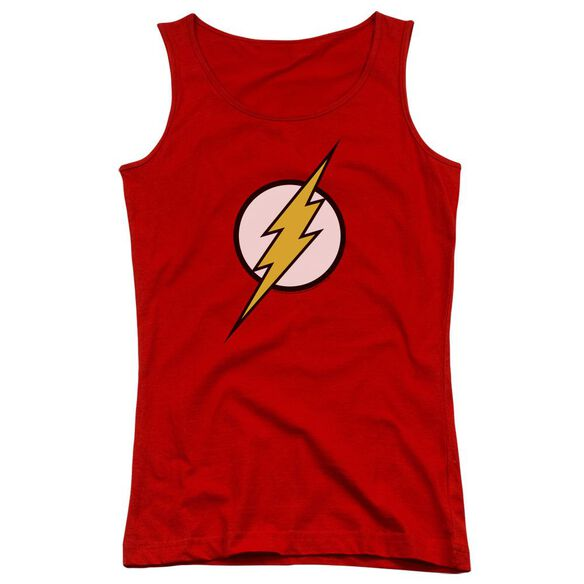 Jla Flash Logo Juniors Tank Top