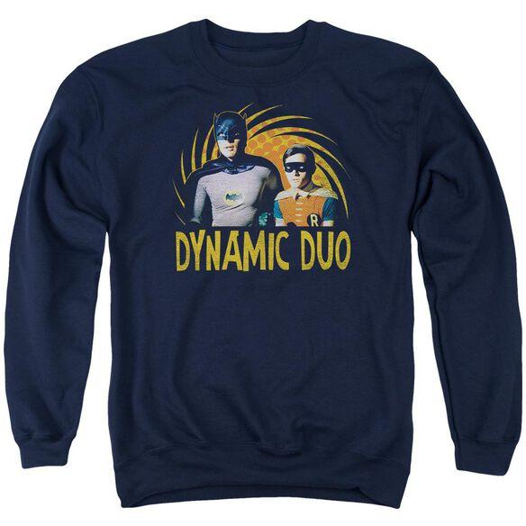 Batman Classic TV Dynamic - Adult Crewneck Sweatshirt - Navy
