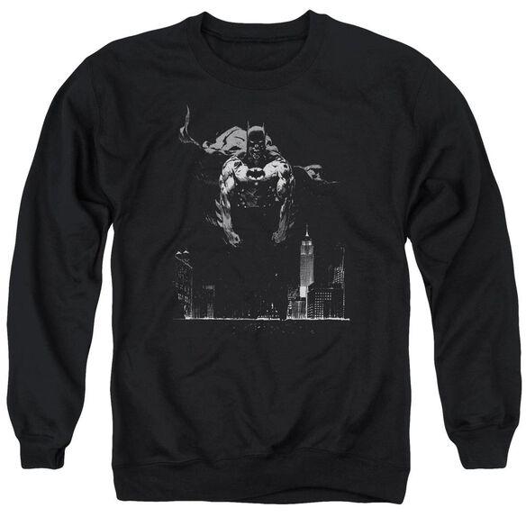 Batman Dirty City - Adult Crewneck Sweatshirt - Black