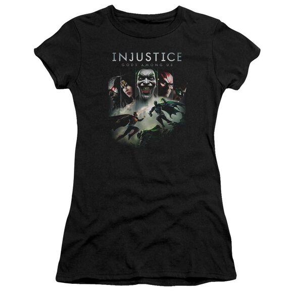 Injustice Gods Among Us Key Art Premium Bella Junior Sheer Jersey