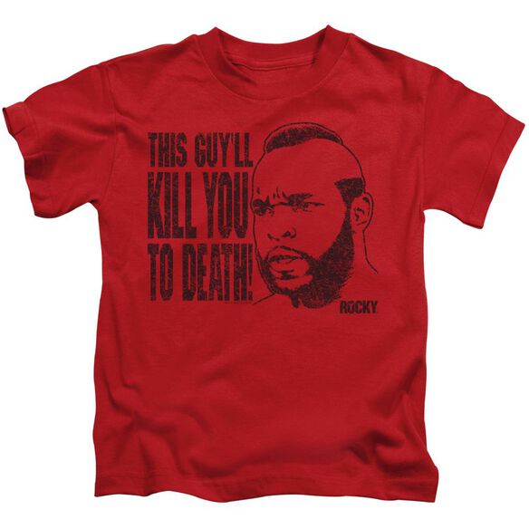 Rocky Iii Kill You To Death Short Sleeve Juvenile Red Md T-Shirt