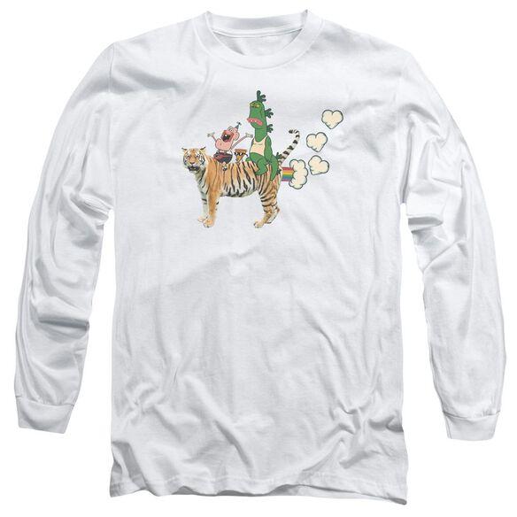 Uncle Grandpa Fart Hearts Long Sleeve Adult T-Shirt