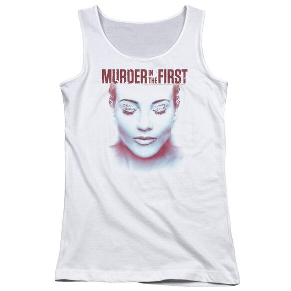 Murder In The First Don't Talk Juniors Tank Top