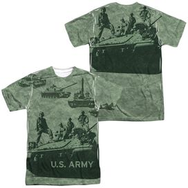 Army Tank Up (Front Back Print) Short Sleeve Adult Poly Crew T-Shirt
