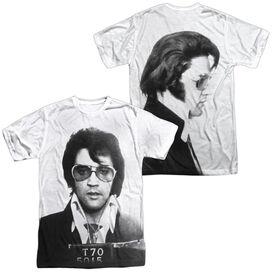 Elvis Mugshot (Front Back Print) Short Sleeve Adult Poly Crew T-Shirt