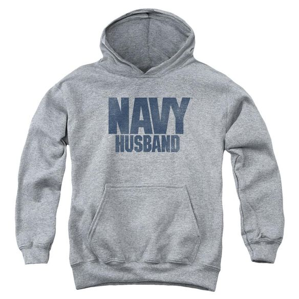 Navy Husband Youth Pull Over Hoodie