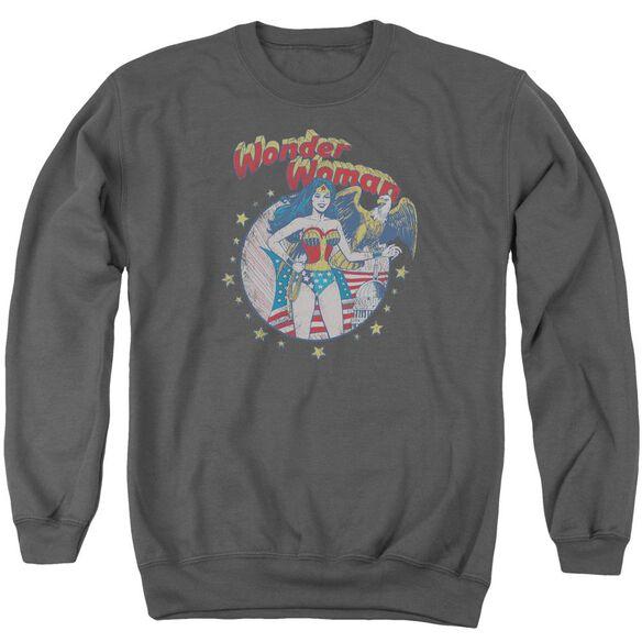 Jla At Your Service Adult Crewneck Sweatshirt